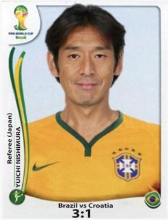 12. Juni, Brasilien – Kroatien (3:1): Schiedsrichter Youichi Nishimura (Japan) entscheidet bei einem Sturz des Brasilianers Fred im Strafraum fälschlicherweise auf Elfmeter. Neymar trifft zum 2:1 (71.).