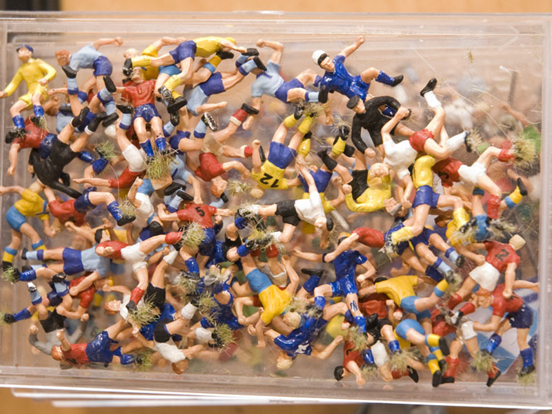 Ein Haufen unserer Miniaturfußballer.